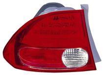 2006 - 2008 Honda Civic Tail Light Rear Lamp (Sedan + On Body) - Left (Driver)