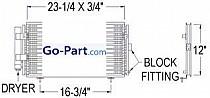 2005 - 2009 Subaru Legacy A/C (AC) Condenser