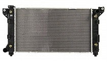1996 - 2000 Dodge Caravan + Grand Caravan Radiator (2.4L + 3.0L + 3.3L + 3.8L + With Driver Side Outlet)