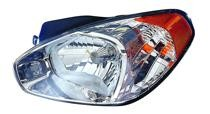 2006 - 2011 Hyundai Accent Front Headlight Assembly Replacement Housing / Lens / Cover - Left (Driver)