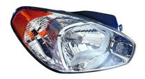 2006 - 2011 Hyundai Accent Headlight Assembly - Right (Passenger)