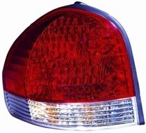 2005 - 2006 Hyundai Santa Fe Rear Tail Light Assembly Replacement / Lens / Cover - Left (Driver)