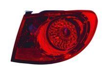 2007 - 2010 Hyundai Elantra Tail Light Rear Lamp - Right (Passenger)