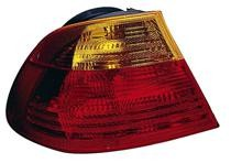 2001 - 2003 BMW 330i Tail Light Rear Lamp (Coupe / E46 / Outer Carrier Assembly / to 3/03) - Left (Driver)