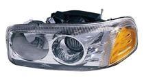 2000 - 2006 GMC Yukon XL Headlight Assembly (Denali / with Bulb) - Left (Driver)