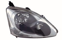2004 - 2005 Honda Civic Headlight Assembly (Hatchback / without Bulbs or Sockets) - Right (Passenger)