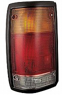 1986 - 1993 Mazda B3000 Rear Tail Light Assembly Replacement (Black Lens) - Left (Driver)