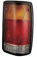 1986 - 1993 Mazda B2300 Tail Light Rear Lamp (Black Lens) - Right (Passenger)