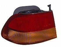 1996 - 1998 Honda Civic Tail Light Rear Lamp (Coupe + Quarter Panel Mounted) - Left (Driver)