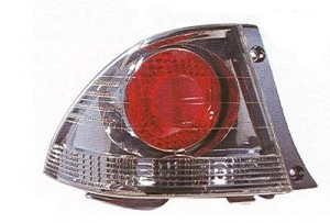 2002-2003 Lexus IS300 Tail Light Rear Lamp (Sedan / Quarter Panel Mounted / Dark Metallic) - Left (Driver)