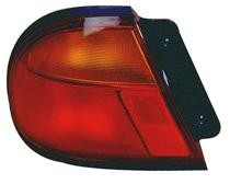 1996 - 1998 Mazda Protege Rear Tail Light Assembly Replacement / Lens / Cover - Left (Driver)