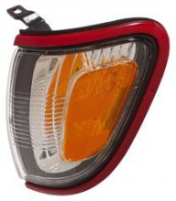 2001 - 2004 Toyota Tacoma Corner Light (Park/Marker Combo + with Red Bezel (Paint Code 3L5) - Left (Driver)