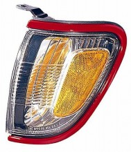 2001-2004 Toyota Tacoma Corner Light (Park/Marker Combo / with Red Bezel (Paint Code 3L5) - Left (Driver)