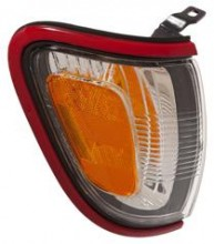 2001 - 2004 Toyota Tacoma Corner Light (Park/Marker Combo + with Red Bezel (Paint Code 3L5) - Right (Passenger) Replacement