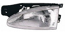 1995 - 1999 Hyundai Accent Front Headlight Assembly Replacement Housing / Lens / Cover - Left (Driver)