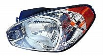 2007-2007 Hyundai Accent Headlight Assembly - Left (Driver)