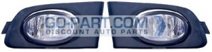 2001-2002 Honda Civic Fog Light Lamp (Pair, Driver & Passenger / Coupe / DX / HX)