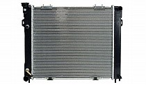 1993 - 1997 Jeep Grand Cherokee Radiator (4.0L L6 / Clip Mount Fan Shroud)
