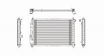 2004 - 2008 Chevrolet (Chevy) Aveo Radiator (1.6L L4 + Without A/C)
