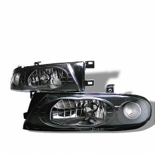 1993-1997 Nissan Altima Crystal HeadLights (PAIR) - Black (Spyder Auto)