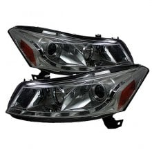 2008-2012 Honda Accord 4Dr Projector HeadLights (PAIR) - DRL - Smoke - High H1 (Included) - Low H1 (Included) (Spyder Auto)