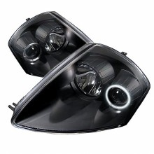 2000-2005 Mitsubishi Eclipse Projector HeadLights (PAIR) - CCFL Halo - Black - High H1 (Included) - Low H1 (Included) (Spyder Auto)