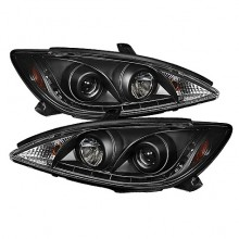 2002-2006 Toyota Camry Projector HeadLights (PAIR) - DRL - Black - High H1 (Included) - Low H1 (Included) (Spyder Auto)