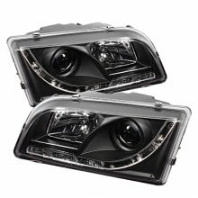 1997-2003 Volvo S40 Projector HeadLights (PAIR) - DRL - Black - High H1 (Included) - Low H1 (Included) (Spyder Auto)