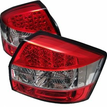 2002-2005 Audi A4 LED Tail Lights (PAIR) - Red Clear (Spyder Auto)