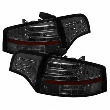 2006-2008 Audi A4 4Dr LED Tail Lights (PAIR) - Smoke (Spyder Auto)