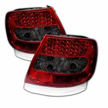 1996-2001 Audi A4 LED Tail Lights (PAIR) - Red Smoke (Spyder Auto)