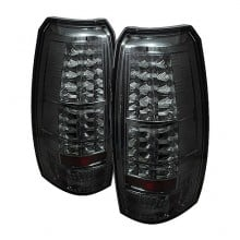 2007-2012 Chevy Avalanche LED Tail Lights (PAIR) - Smoke (Spyder Auto)