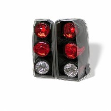 2002-2006 Cadillac Escalade SUV ( Not EXT ) Euro Style Tail Lights (PAIR) - Black (Spyder Auto)