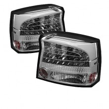 2009-2010 Dodge Charger LED Tail Lights (PAIR) - Chrome (Spyder Auto)