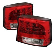 2009-2010 Dodge Charger LED Tail Lights (PAIR) - Red Clear (Spyder Auto)