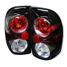 1997-2004 Dodge Dakota Euro Style Tail Lights (PAIR) - Black (Spyder Auto)