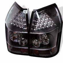 2005-2008 Dodge Magnum LED Tail Lights (PAIR) - Black (Spyder Auto)