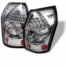2005-2008 Dodge Magnum LED Tail Lights (PAIR) - Chrome (Spyder Auto)