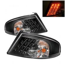 2001-2006 Dodge Stratus 4Dr LED Tail Lights (PAIR) - Black (Spyder Auto)