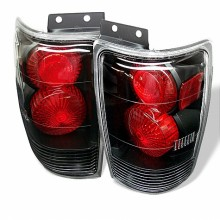 1997-2002 Ford Expedition Euro Style Tail Lights (PAIR) - Black (Spyder Auto)