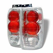 1997-2002 Ford Expedition Euro Style Tail Lights (PAIR) - Chrome (Spyder Auto)