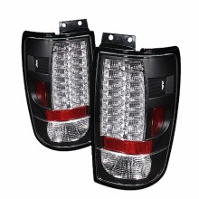 1997-2002 Ford Expedition Version 2 LED Tail Lights (PAIR) - Black (Spyder Auto)