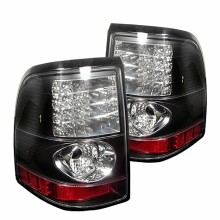 2002-2005 Ford Explorer 4Dr (Except Sport Trac) LED Tail Lights (PAIR) - Black (Spyder Auto)