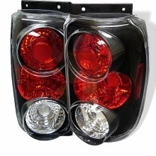 1995-1997 Ford Explorer Euro Style Tail Lights (PAIR) - Black (Spyder Auto)