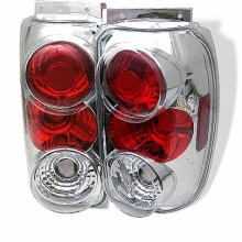 1995-1997 Ford Explorer Euro Style Tail Lights (PAIR) - Chrome (Spyder Auto)