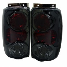 1995-1997 Ford Explorer Euro Style Tail Lights (PAIR) - Smoke (Spyder Auto)