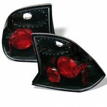2000-2004 Ford Focus 4Dr Euro Style Tail Lights (PAIR) - Black (Spyder Auto)