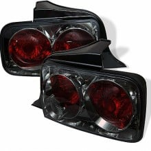2005-2009 Ford Mustang Euro Style Tail Lights (PAIR) - Smoke (Spyder Auto)