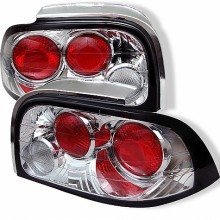 1996-1998 Ford Mustang Euro Style Tail Lights (PAIR) - Chrome (Spyder Auto)
