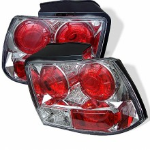 1999-2004 Ford Mustang (will not fit the Cobra model) Euro Style Tail Lights (PAIR) - Chrome (Spyder Auto)